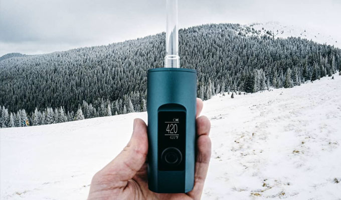 Arizer Solo 2 in the snow
